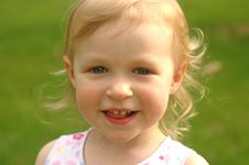 Free Little Blonde Girl Outside Royalty Free Stock Photo - 2687585