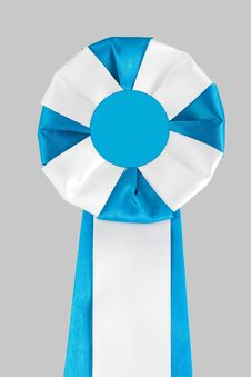 Blue-white Award Ribbon Royalty Free Stock Photo