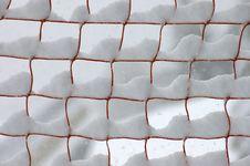 Free Snow On A Orange Web Stock Photo - 2688610