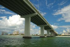 Free Bridge Over A Bay Royalty Free Stock Image - 2689226