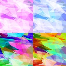 Free Abstract Background Of Triangles Royalty Free Stock Photos - 26800208