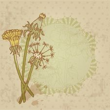Free Vintage Card With Flowers Stock Photography - 26800802