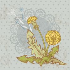 Free Vintage Card With Flowers Stock Images - 26800824