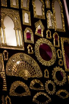 Free Beautiful Golden Mirrors Stock Image - 26808151