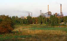 Free Metallurgical Plant. Royalty Free Stock Images - 26808689