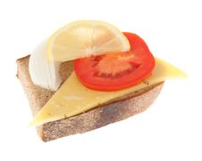 Free Rye-bread With Cheese Stock Photos - 26808803