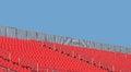 Free Empty Stadium Seats And Sky Royalty Free Stock Photos - 26813758