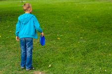 Free Little Boy Playing Frisbee Royalty Free Stock Photos - 26812788