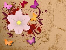 Free Abstract Background With Grunge Design. Royalty Free Stock Photo - 26812925