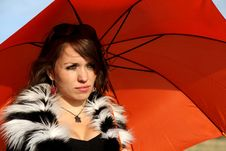 Free Umbrella Girl Royalty Free Stock Photos - 26815428