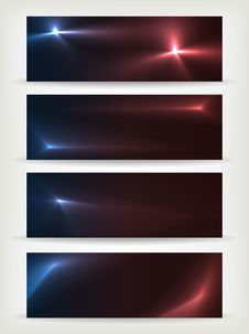 Free Set Of Banners Of The Stars Royalty Free Stock Photography - 26816247
