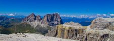 Piz Pordoi, Dolomiti Mountains In Italy Stock Photography