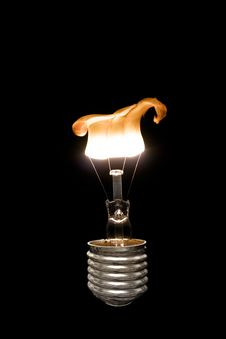 Free Burning Light Bulb Stock Images - 26818164