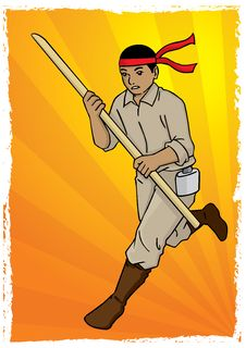 Free Indonesian Soldier Running Royalty Free Stock Image - 26819486
