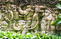 Free Elephant Thai Stucco On The Temple Wall Royalty Free Stock Photo - 26827055