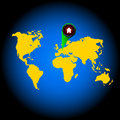 Free World Map Royalty Free Stock Photography - 26829487