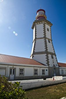 Free Lighthouse Of Cape Espichel Royalty Free Stock Photography - 26823367
