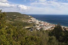 Free Coastal Sesimbra Town Stock Photos - 26823593