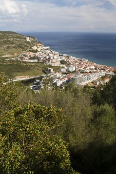 Free Coastal Sesimbra Town Royalty Free Stock Photos - 26823608
