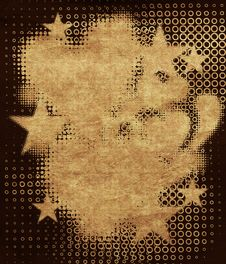 Grunge Halftone Objects Royalty Free Stock Photography