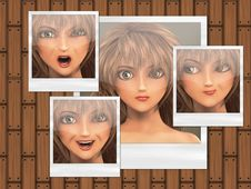 Free Multiple Faces On Photo Cards Royalty Free Stock Image - 26825616