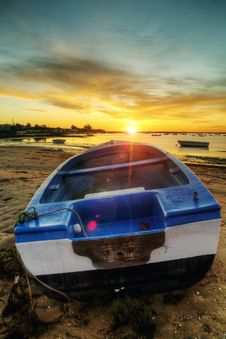 Free Sunrise With Fishing Boats Royalty Free Stock Photo - 26825625