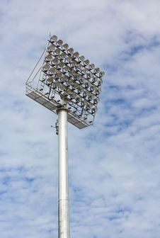 Free Spot-light Tower Royalty Free Stock Photos - 26825658