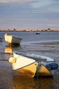 Free Sunrise With Fishing Boats Stock Images - 26825664