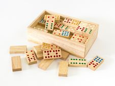 Free Wooden Domino In Box Royalty Free Stock Photo - 26825755