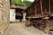 Free Ladines Village, Sobrescobio, Asturias, Spain Stock Images - 26825874