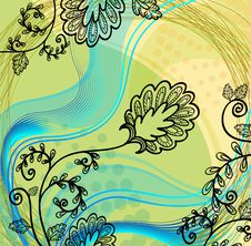 Vector Hand Drawn Flower Royalty Free Stock Photos