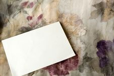 Blank Card On Floral Background Stock Photos