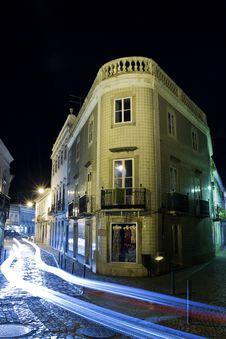 Tavira City By Night Stock Image