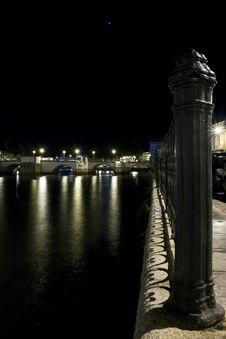 Tavira City By Night Royalty Free Stock Photos