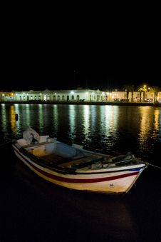 Tavira City By Night Royalty Free Stock Photos