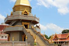 Free Middle Part Of Thai Pagoda Showing Naka S Stair Stock Photos - 26827133