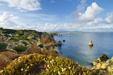 Free Natural Coastline Of Algarve Stock Photography - 26831182