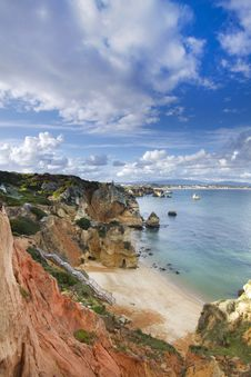 Free Natural Coastline Of Algarve Stock Images - 26831304