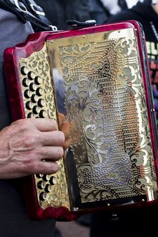 Free Accordion Player Close-up Royalty Free Stock Image - 26832386