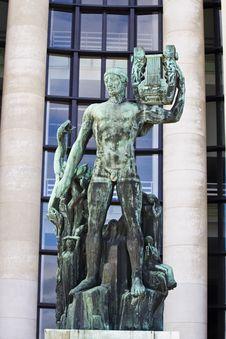 Free Old Green Apollo Statue In Paris, France Stock Photos - 26832513