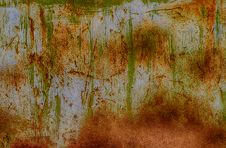 Free Rusty Painted Metal Background Or Texture Royalty Free Stock Images - 26833139