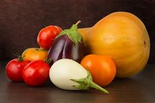 Free Vegetables On The Dark Background Stock Images - 26833224