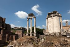 Free Temple Of Castor And Pollux At The Roman Forum. Royalty Free Stock Photography - 26834687