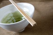 Free Close Up Chopstick On Bowl Royalty Free Stock Image - 26835556
