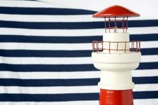 Free Lighthouse With Blue Strips Stock Image - 26835601