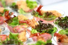 Shrimps Cocktail Salad Royalty Free Stock Photos