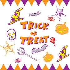 Free Halloween Icon Set Stock Photography - 26837632