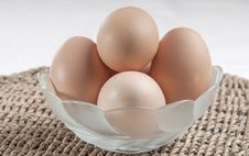 Free Eggs In Glass Bowl Stock Photo - 26840370