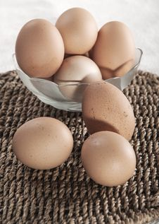 Free Eggs In Glass Bowl Royalty Free Stock Photos - 26840438