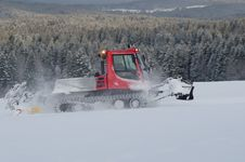 Snowplow In The Mountain Stock Image